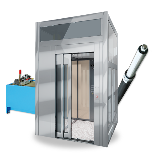 Mrl Lift With Reduced Pit And Headroom Superdomus Hydraulic