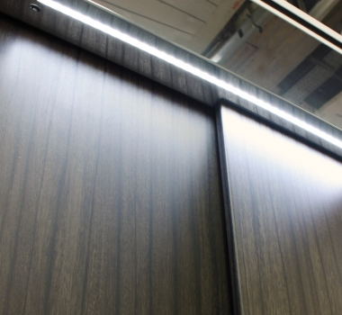 DomusLift doors with embedded LED lighting